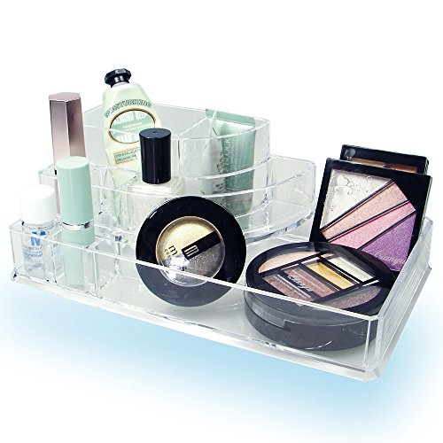 Ikee Design 3-step Acrylic Cosmetic Organizer with 8 Compartments.1